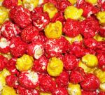 Strawberry Banana Smoothie Popcorn